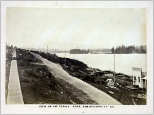 View on the Fraser River, New Westminster B.C.