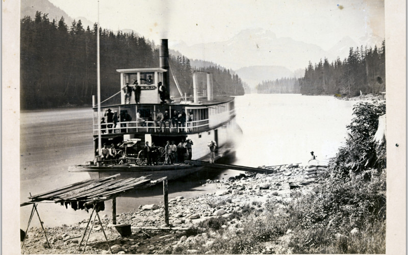 steamship on the water